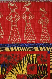 Detail of African Primary Underground Rail Road quilt by Sarah Bond