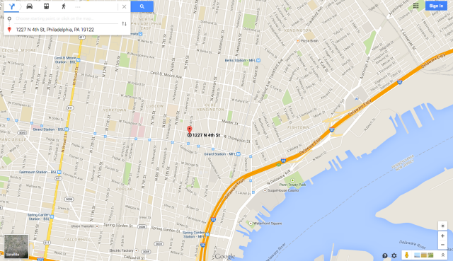 Map to Impact Hub Philly