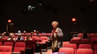 Producer Marlene G. Patterson at the Hiway Theater